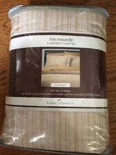 HOME CLASSICS MICRO SUEDE COMFORTER COVER SET FULL/QUEEN + 2 Pillow Shams NEW
