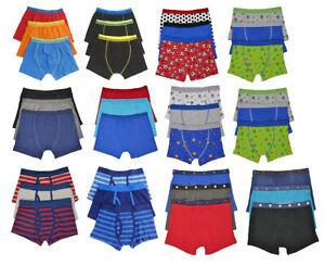 6 Pairs Boys Cotton Rich Designer Boxer  Trunks Underwear 2-13 years