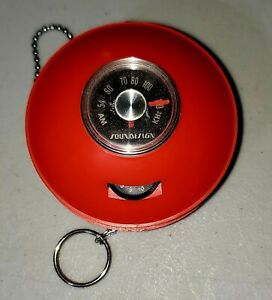 Red SOUNDDESIGN Space Capsule Style Vintage Radio Round UFO w/Chain TESTED WORKS