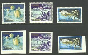 Yemen 1965 Mi 191,2,5   Gemini perf and imperf Space MNH