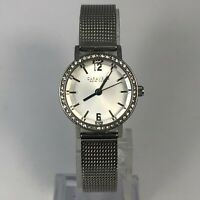 Caravelle Womens 43L170 Silver Crystal Swaroski Accent Stainless Steel Watch