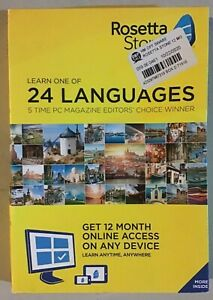 Rosetta Stone: Learn a Language for 12 Months - 24 Languages NEW