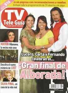 CARLA ESTRADA LUCERO FERNANDO COLUNGA MI GUIA MEXICAN MAGAZINE MEXICO SPANISH