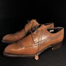 Fratelli Borgioli Elite — Tan Leather Derby Brogue Formal Shoes — UK 7.5 EU 41.5