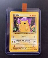 Pikachu Common Pokemon Card Yellow Cheeks Base Set Unlimited English 58/102 NM