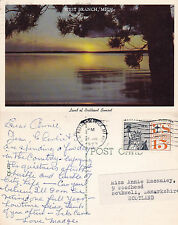 1973 SUNSET OVER WEST BRANCH MICHIGAN UNITED STATES COLOUR POSTCARD