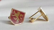 LION RAMPANT HERALDIC RED House of Lannister / Game of Thrones CUFF LINKS