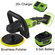 Cordless Car Polisher Sander Buffer Variable Speed With Battery 6.0ah  & Charger