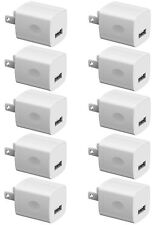 Boost Chargers 5W Usb Power Adapter [10-Pack] Wall Charger 1A Cube for Plug O.