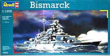 Maqueta del Acorazado alemán BISMARCK de REVELL a escala 1/1200