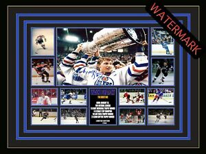 WAYNE GRETZKY - THE GREAT ONE -  LIMITED EDITION SIGNED & FRAMED MEMORABILIA