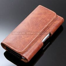 Brown Leather Holster Case Belt Clip Pouch Holder Cover Samsung Galaxy S8+ Plus