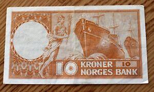 Norway 10 Kroner 1961 Norges Bank ¤¤¤¤LOOK¤¤¤¤