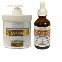 Advanced Clinicals Vitamin C Skin Care Set - 16oz Cream and 1.8oz Serum