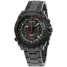 Bulova Black Dial Black Stainless Steel Men's Watch 98B257