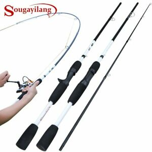 2/3 Sections Carbon Fiber Pesca Travel Pole Weight Ultralight Rod