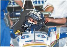 DAMON HILL - Signed 12x8 Photograph - FORMULA ONE