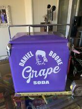 Rare Daniel Boone Grape Soda Metal Picnic Six Pack Cooler GSA OIL COLA