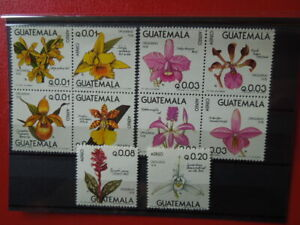 G 2310  GUATEMALA  1978  ORCHIDS  FLOWERS  AIRMAIL  SET  MNH