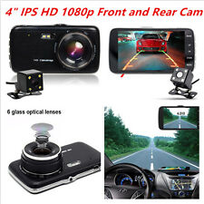 "4"" IPS Dash Cam Car DVR Front and Rear Camera Video Recorder Cam Full HD1080P"
