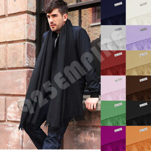 Men's Oversized Scarf Solid Plain Shawl Wrap Winter Warm Blanket