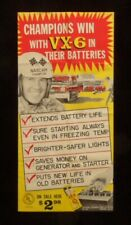 >orig. 1959 LEE PETTY VX-6 Battery Additive Daytona 500/NASCAR **19 x 9 Poster**
