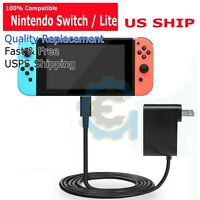 Nintendo Switch AC Power Supply Adapter Home Wall Travel Charger Cable 2.4amp