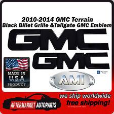 2010-2014 GMC Terrain Black Billet GMC Grille & Tailgate Emblem AMI 96510K