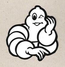 Bib Bibendum Michelin Man Winking Sticker, Vintage Sports Car Racing Decal