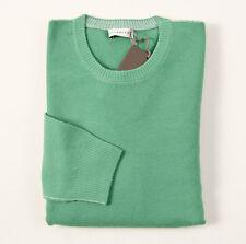 NWT $450 BALLANTYNE Jade Green Extrafine Merino Wool Sweater 48/M Italy