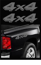 "2 - 4X4 TRUCK DECALS, DODGE DAKOTA OFFROAD STICKERS, SIZE: 3.25"" X 13"" DK GREY"
