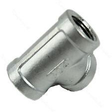 "304 Stainless Steel Tee 1/2"" 3 Way Female Pipe Fitting Threaded Biodiesel New"
