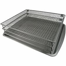 Food Dehydrator Drying Rack 3 Tier Baking Pan Stackable Jerky Meat Non Stick New