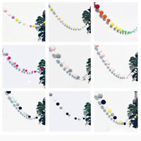 Felt Ball String Ornament 2.5M 30PCS Hair Dots Hanging Pendant Girls Room Party