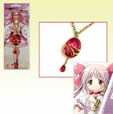 Anime Puella Magi Madoka Magica Cosplay Necklace Hangings Pink Crystal Pendant#8