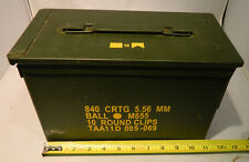 Ammo Box (can), Us Mil. Issued M2A1 50 caliber surplus w lid,seal, metal M016