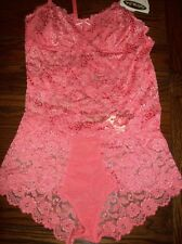 NWT CABERNET NYLON SPDX LACE ROUCHED HIPSTER PANTIES CAMI SET 4236 4221 CORAL XL