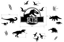 Personalized Jurassic Park Name Dinosaur Vinyl Decal Wall Sticker Bedroom Kids