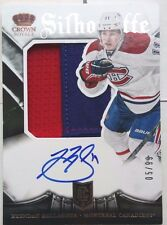 3CLRS /99 BRENDAN GALLAGHER ROOKIE SILHOUETTE PRIME PATCH AUTO CROWN 2013 14