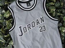 Men's Air Jordan Varsity Jersey Grey Black White Small Style #666289 063 J
