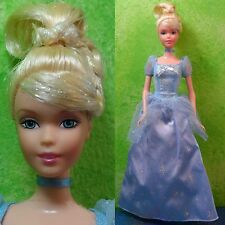 "Mattel Barbie 11.5"" Retired Cinderella Doll Disney Princess w/ Dress Gown"
