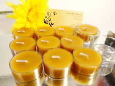 100% Pure Raw Beeswax Tea Lights Candles Organic(Pack of 10) & 1 Tealight Holder