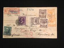 SAMOA REGISTERED 1894 TO LONDON FORWARDED 2 PENCE (2)+HALF PENNY (3)