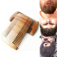 Sandalwood Fine Coarse Teeth Hair Mustaches Brush Beard Comb Double Side