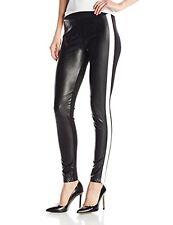 Sanctuary Nwt Black White Ski Racer Stripe Faux Leather Legging Pants Medium M