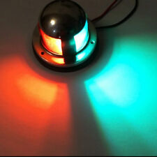 Marine Yacht boat LED Lights Stainless Steel 12V Red Green Bow Navigation bulb