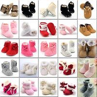 Newborn Baby Infant Toddler Boy Girl Snow Boots Crib Shoes Prewalker Size 0 1 2