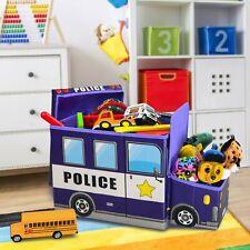 Toy Storage Box, Light up LED's, toy organizer, police, police car, (KAP),