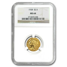 $2.50 Indian Gold Quarter Eagle MS-64 NGC/PCGS - SKU #22168