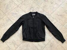 Diesel Fifty Five Black Bomber Mesh Back Jacket Size Small Ju
